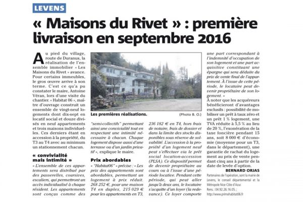 ARTICLE NM maisons du rivet